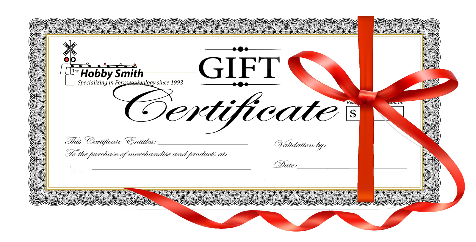 Gift Certificates Available at The Hobby Smith